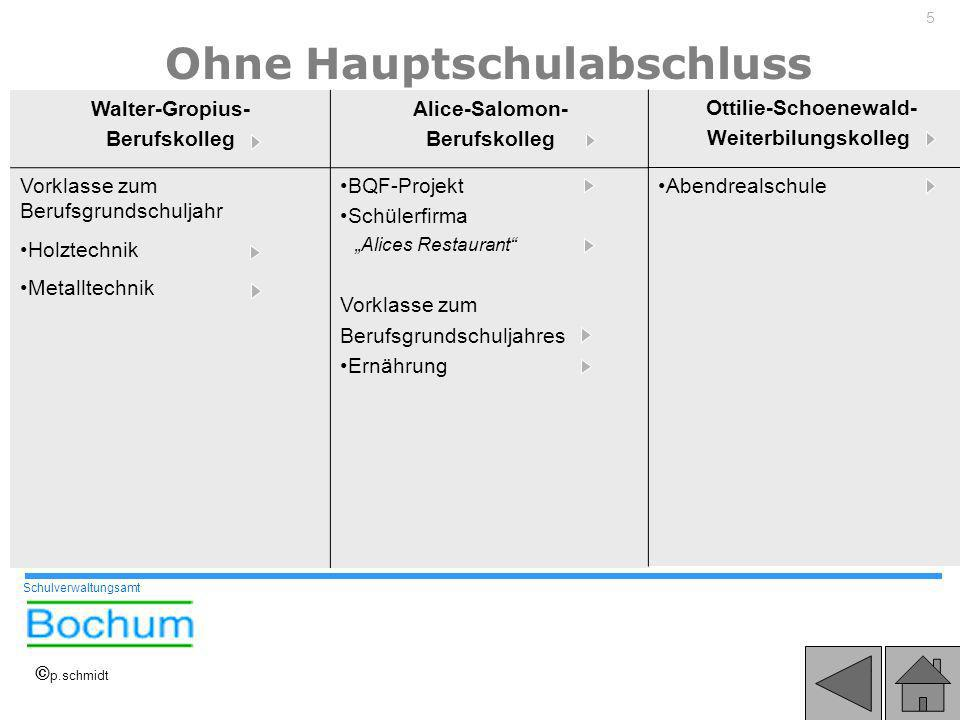 Ohne Hauptschulabschluss Ottilie-Schoenewald-