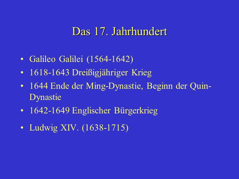Das 17. Jahrhundert Galileo Galilei (1564-1642)