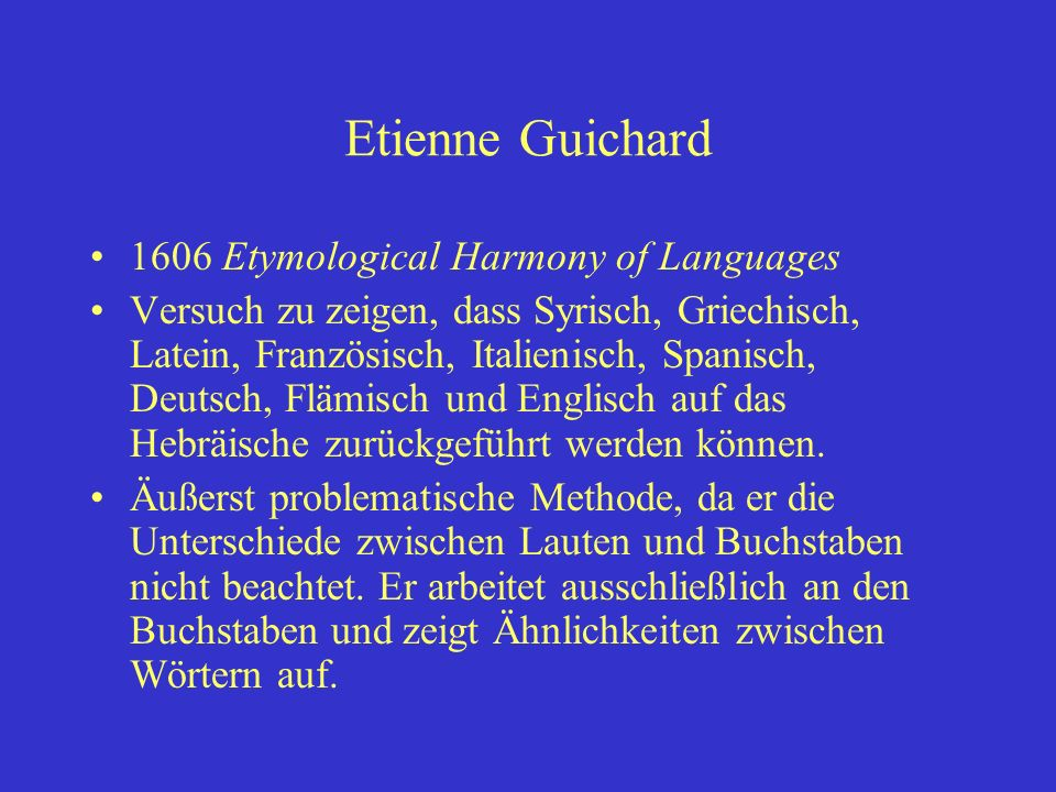 Etienne Guichard 1606 Etymological Harmony of Languages