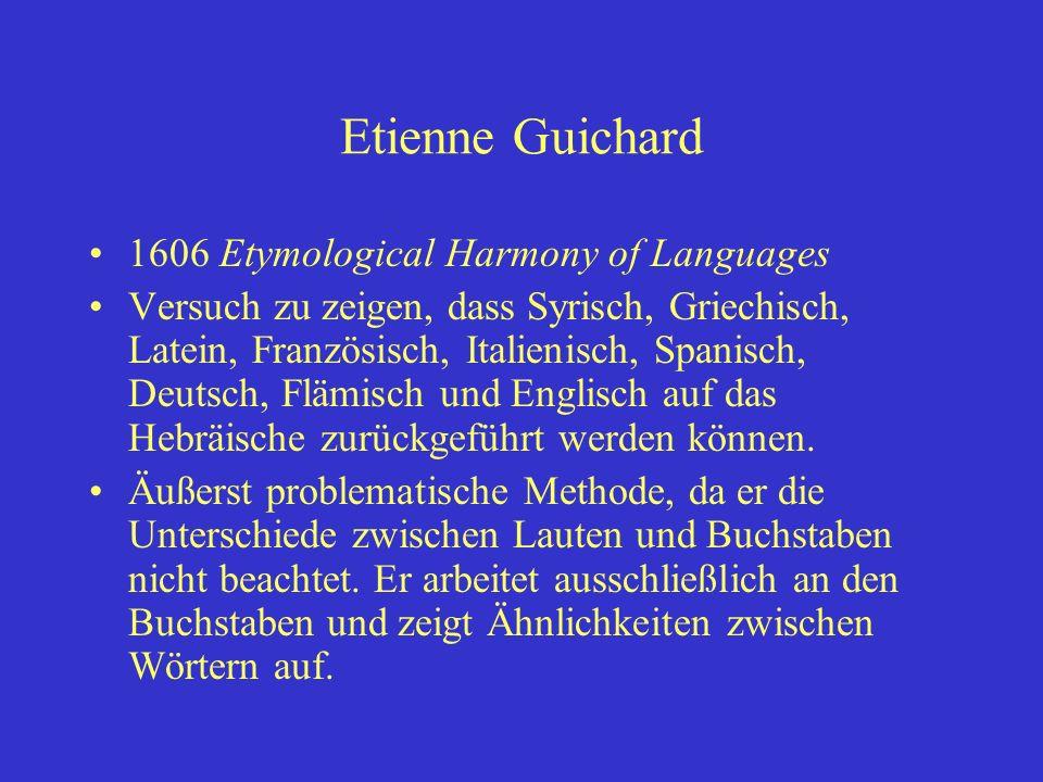 Etienne Guichard 1606 Etymological Harmony of Languages