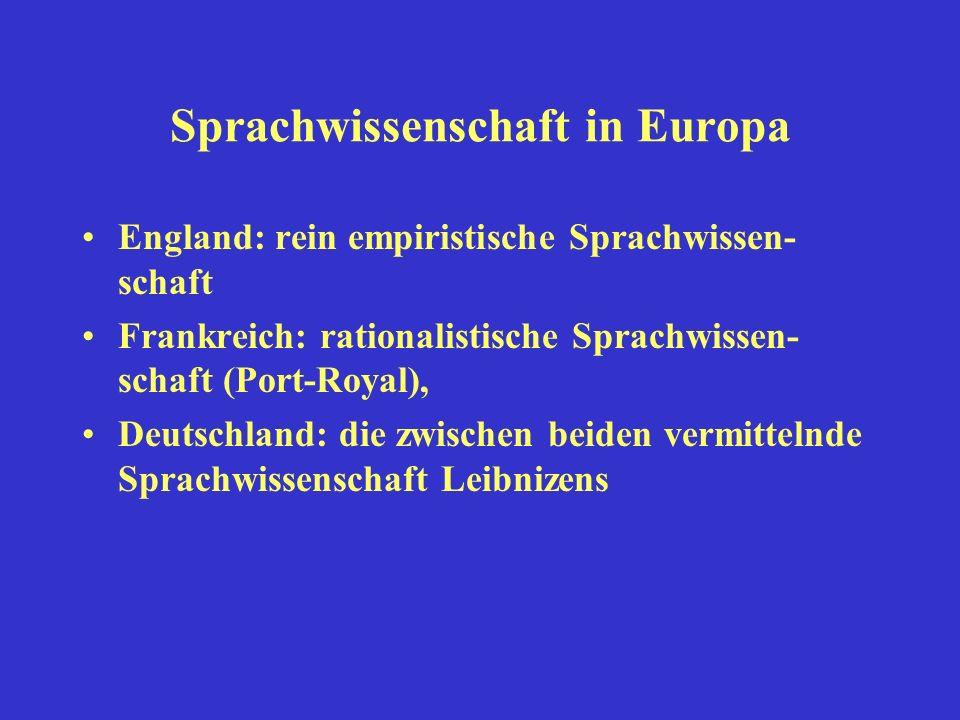 Sprachwissenschaft in Europa