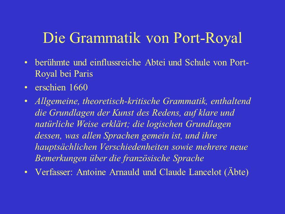 Die Grammatik von Port-Royal