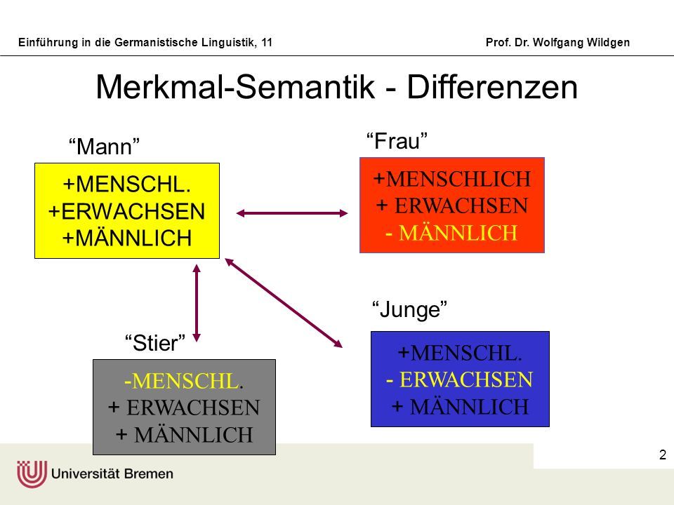 Merkmal-Semantik - Differenzen