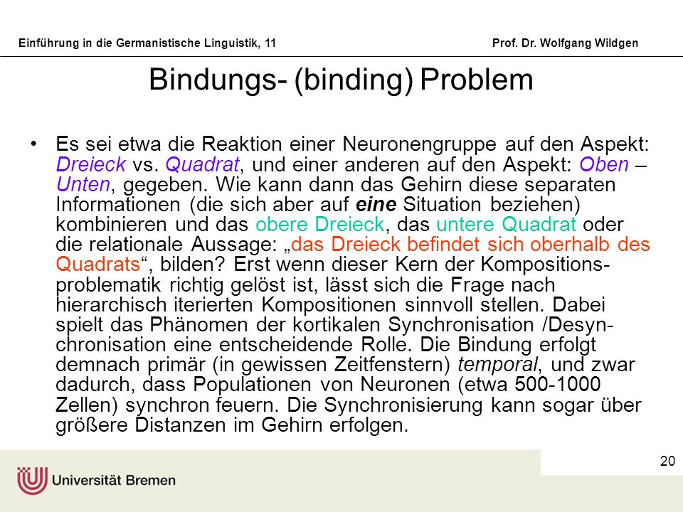 Bindungs- (binding) Problem