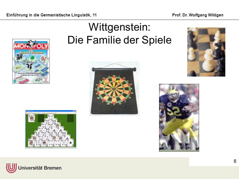Wittgenstein: Die Familie der Spiele