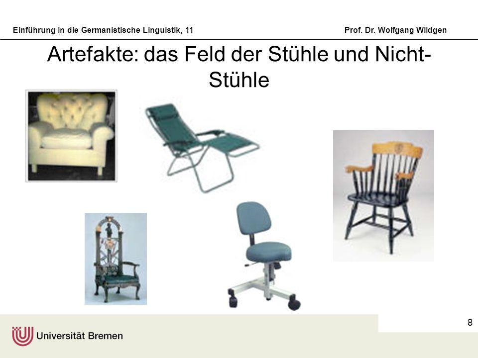 Artefakte: das Feld der Stühle und Nicht-Stühle