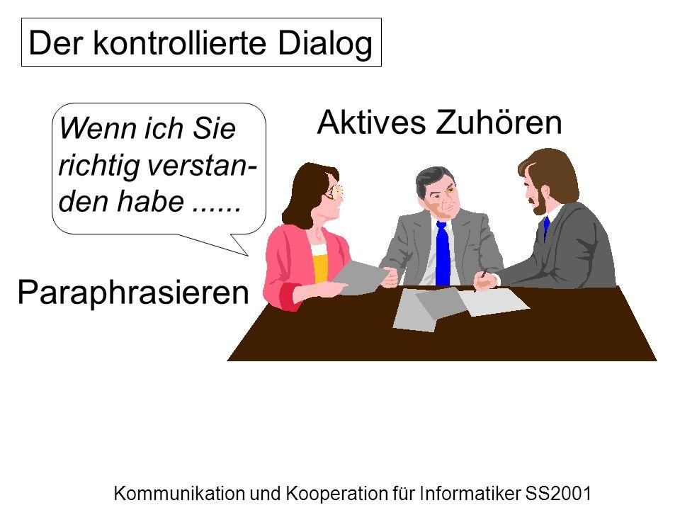 Der kontrollierte Dialog