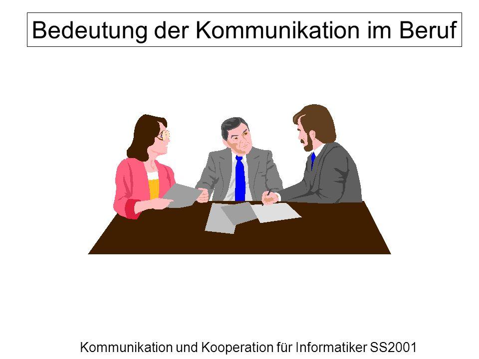 Bedeutung der Kommunikation im Beruf