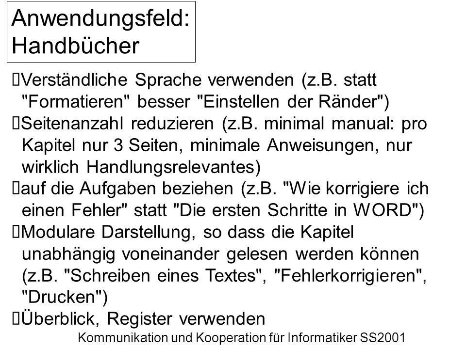 Anwendungsfeld: Handbücher