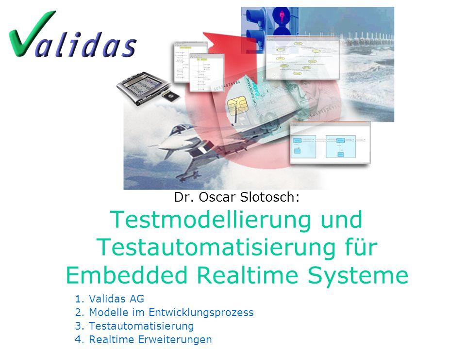 Dr. Oscar Slotosch: Testmodellierung und Testautomatisierung für Embedded Realtime Systeme
