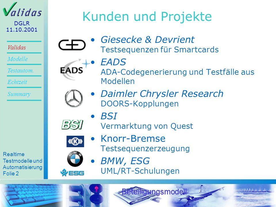 Kunden und Projekte Giesecke & Devrient Testsequenzen für Smartcards