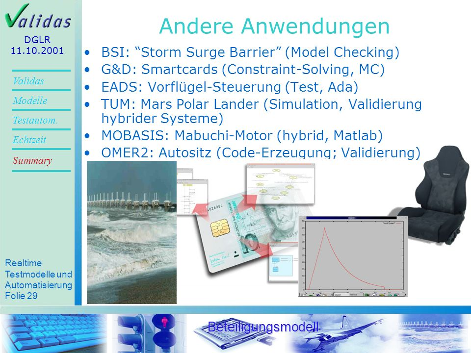 Andere Anwendungen BSI: Storm Surge Barrier (Model Checking)