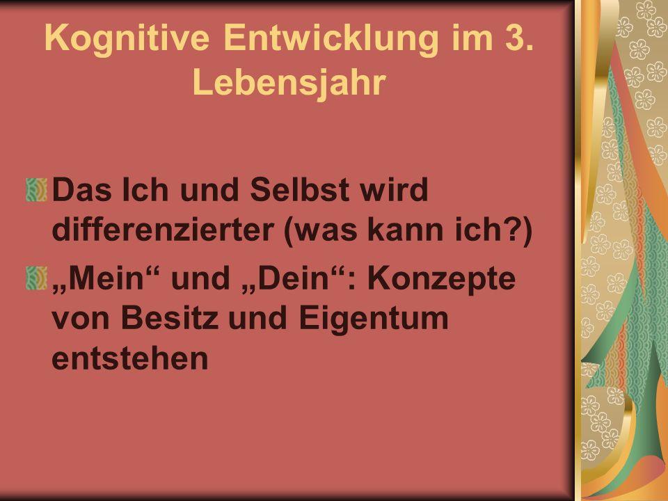 Kognitive Entwicklung im 3. Lebensjahr
