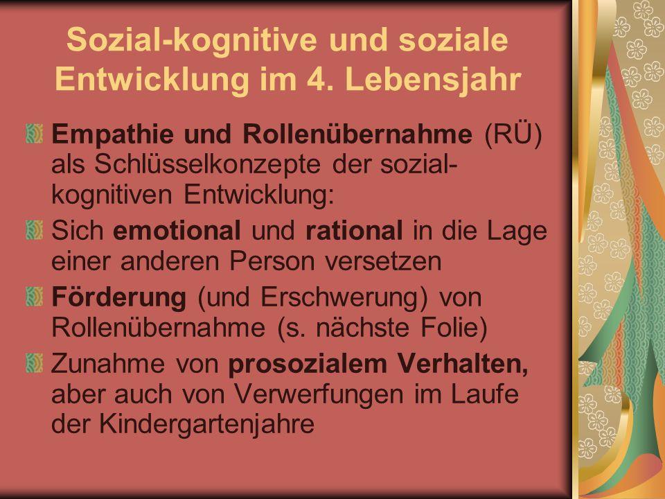 Sozial-kognitive und soziale Entwicklung im 4. Lebensjahr