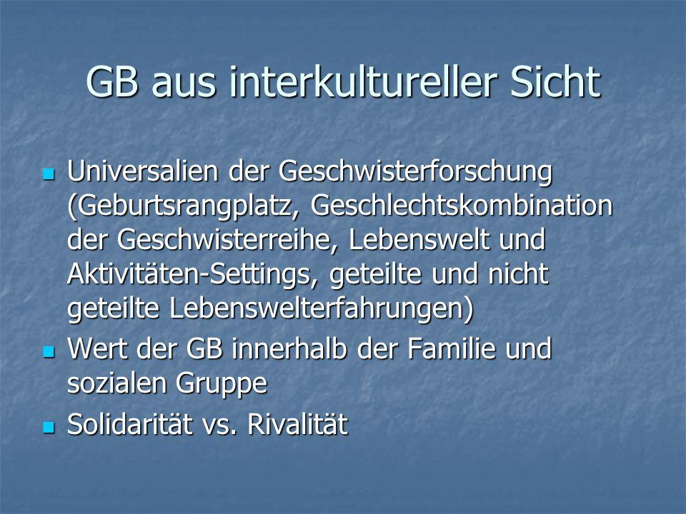 GB aus interkultureller Sicht