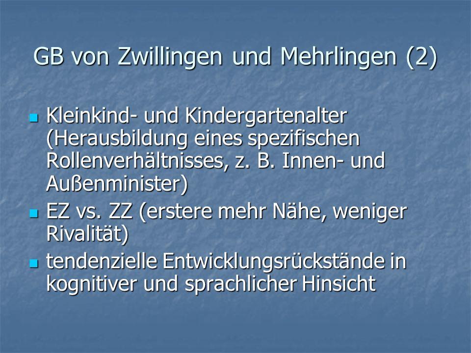 GB von Zwillingen und Mehrlingen (2)