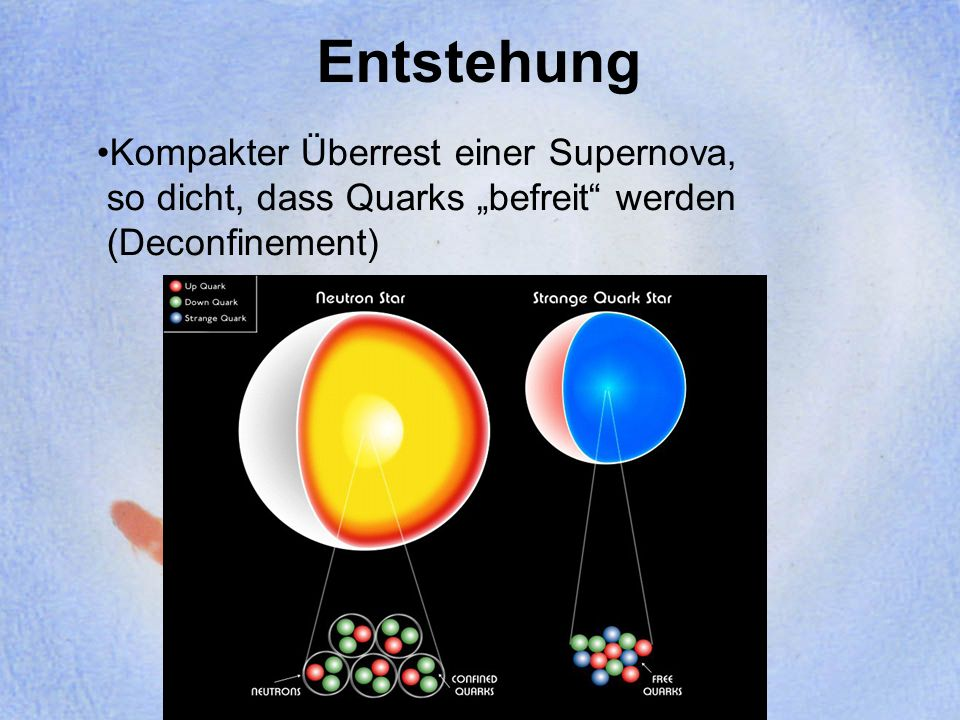 Entstehung Kompakter Überrest einer Supernova,
