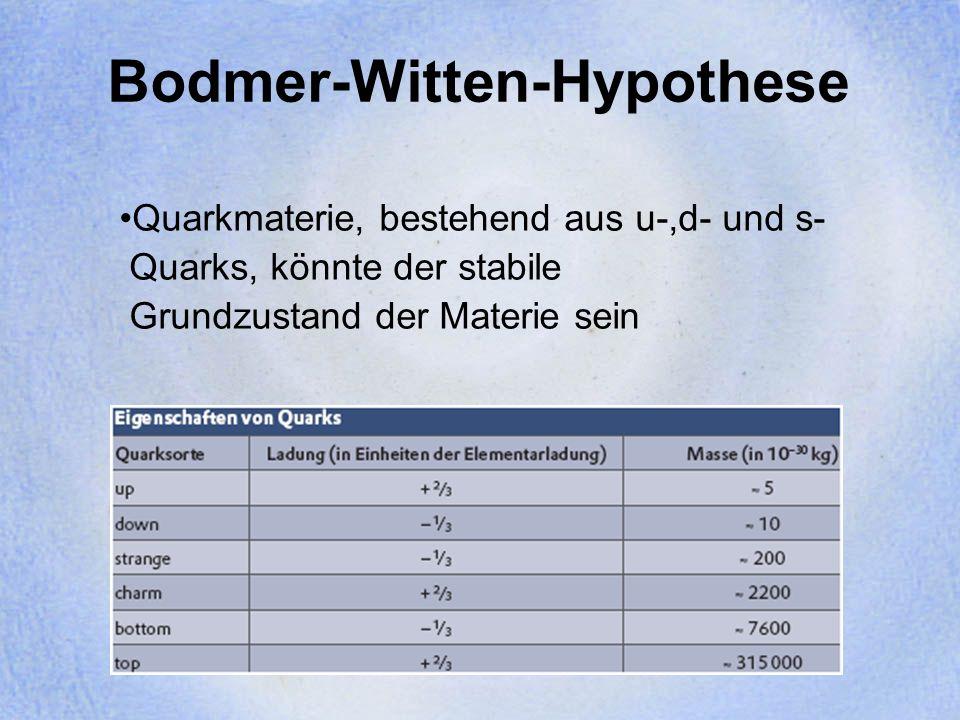 Bodmer-Witten-Hypothese