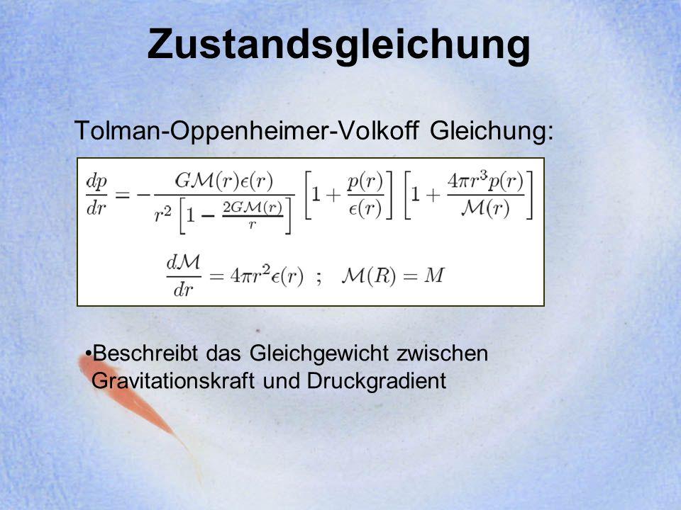 Tolman-Oppenheimer-Volkoff Gleichung: