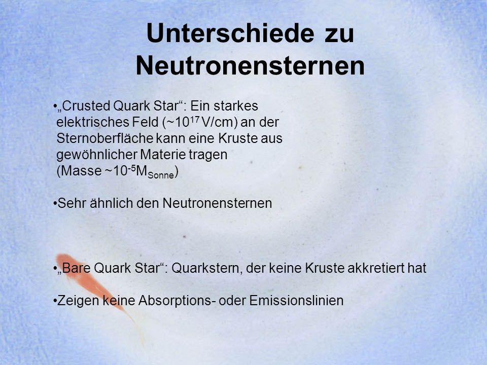 Unterschiede zu Neutronensternen