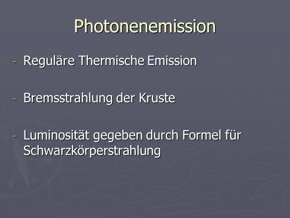 Photonenemission Reguläre Thermische Emission