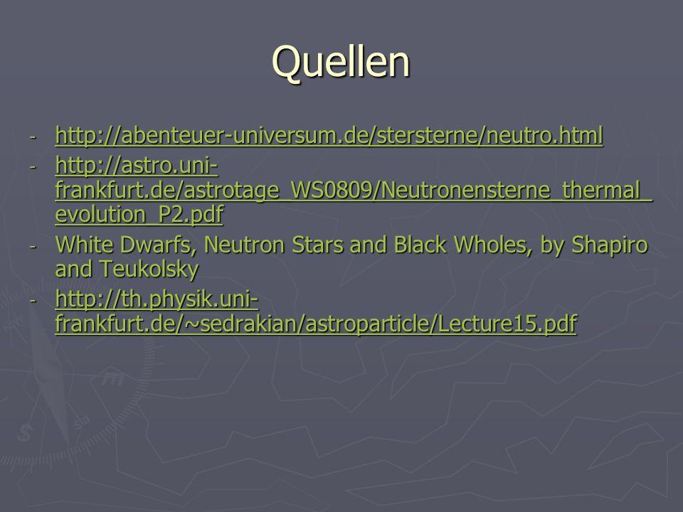 Quellen http://abenteuer-universum.de/stersterne/neutro.html