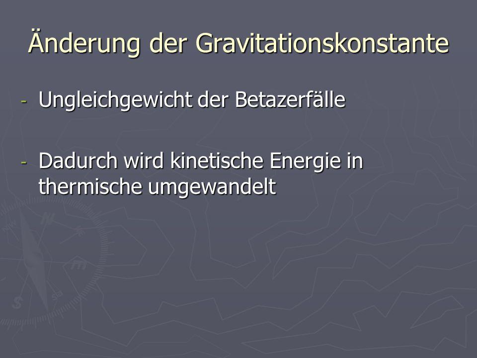 Änderung der Gravitationskonstante