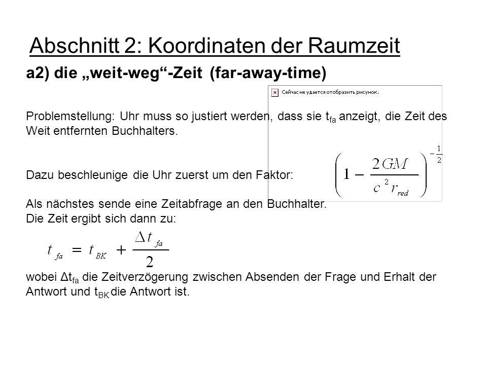 Abschnitt 2: Koordinaten der Raumzeit