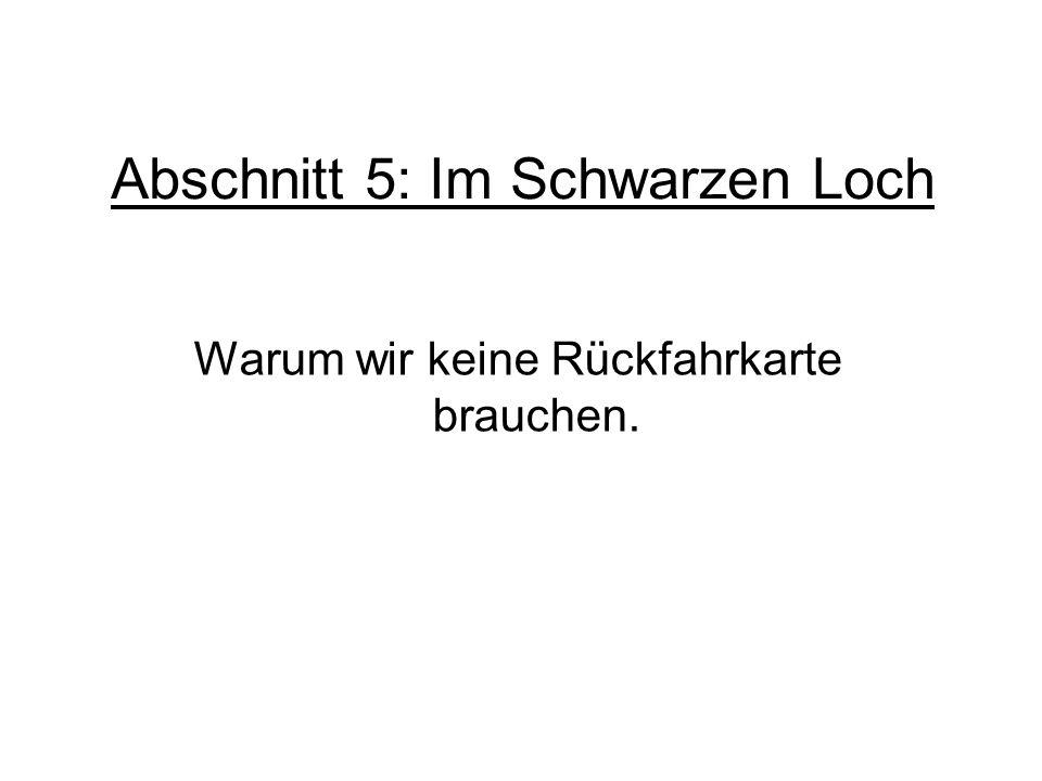 Abschnitt 5: Im Schwarzen Loch