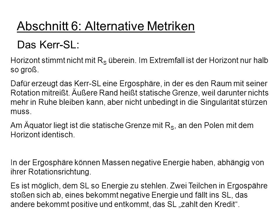 Abschnitt 6: Alternative Metriken