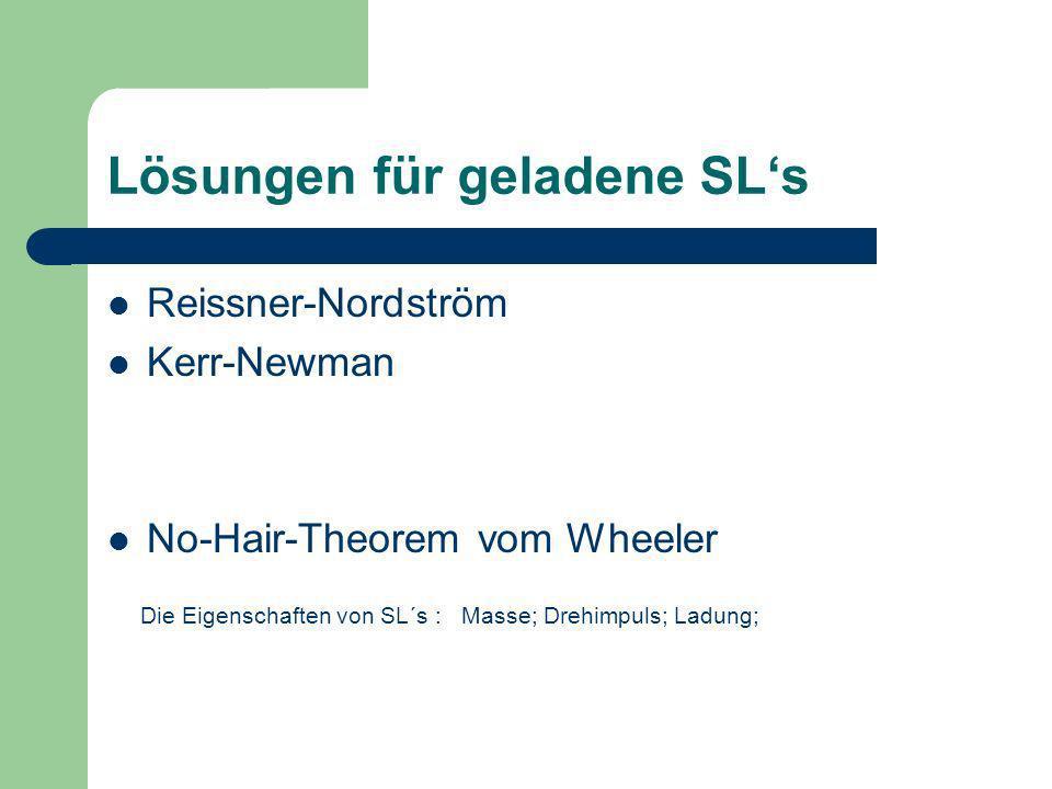 Lösungen für geladene SL's