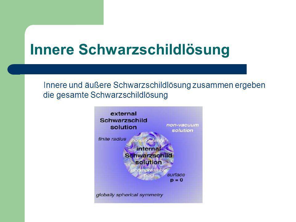 Innere Schwarzschildlösung