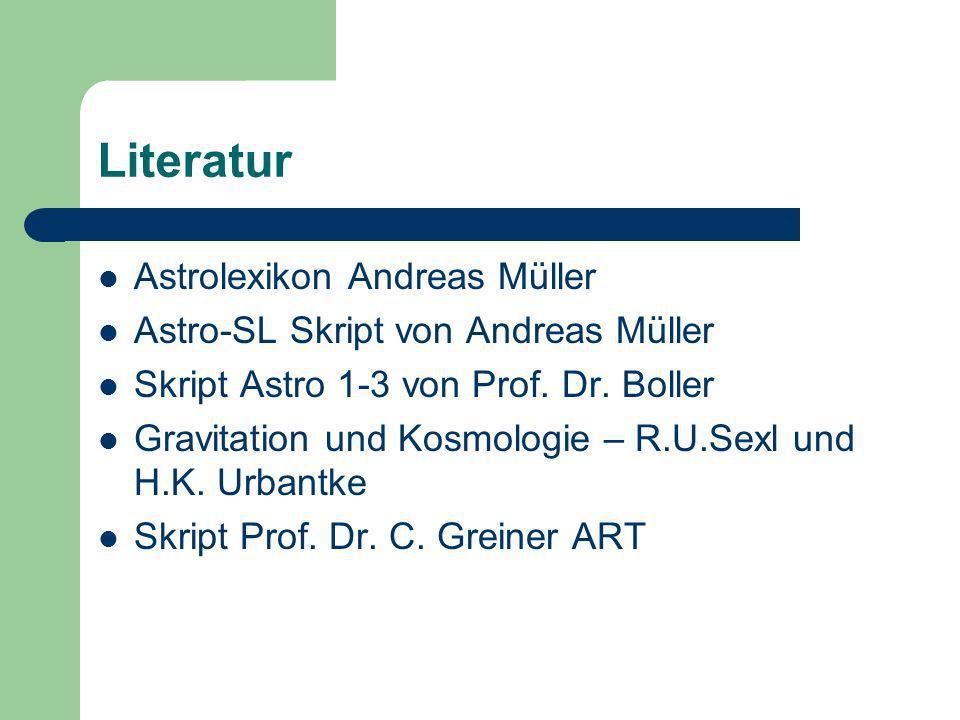 Literatur Astrolexikon Andreas Müller