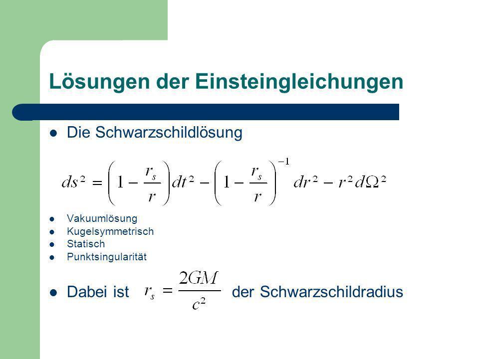 Lösungen der Einsteingleichungen