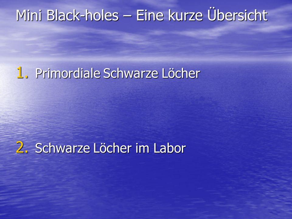 Mini Black-holes – Eine kurze Übersicht