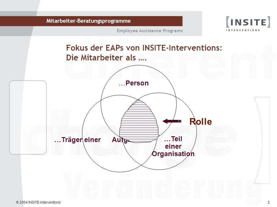 Fokus der EAPs von INSITE-Interventions: Die Mitarbeiter als ….