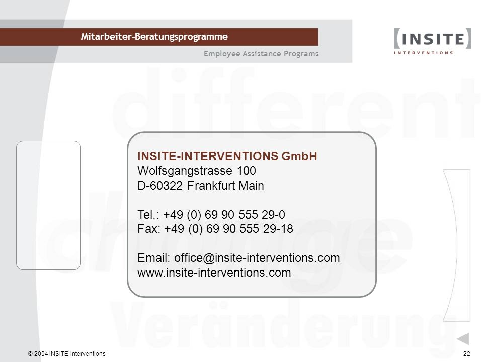 INSITE-INTERVENTIONS GmbH