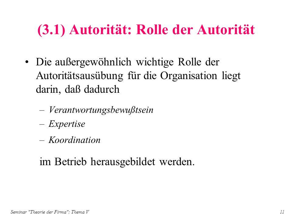 (3.1) Autorität: Rolle der Autorität