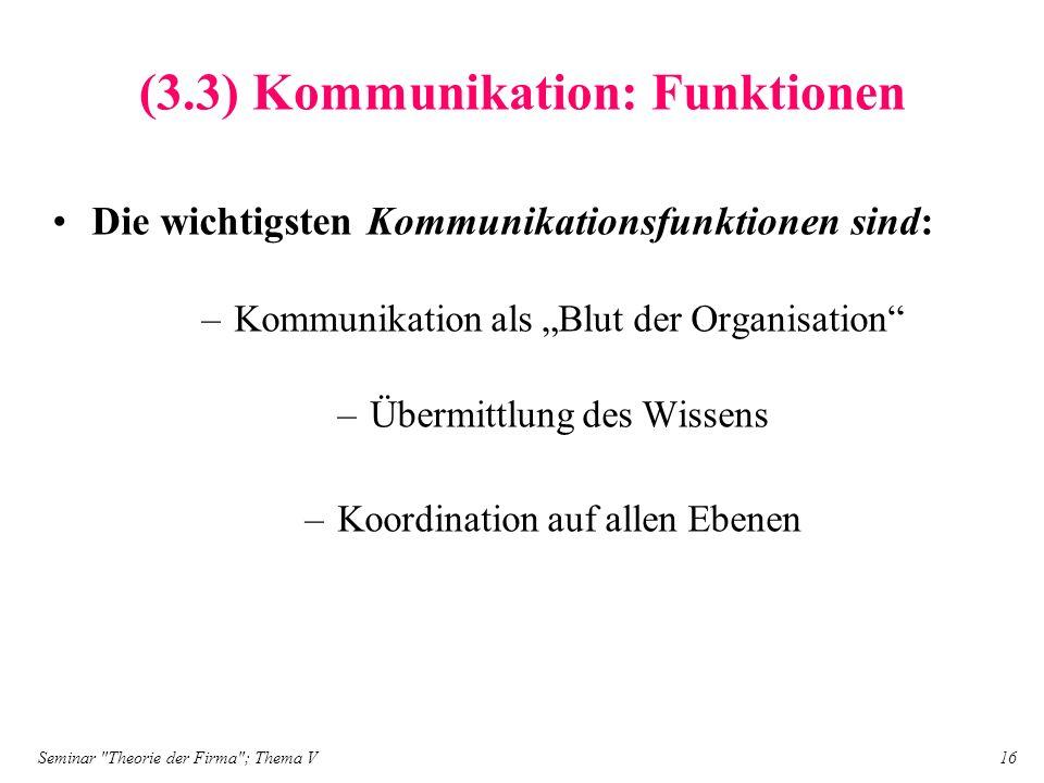 (3.3) Kommunikation: Funktionen