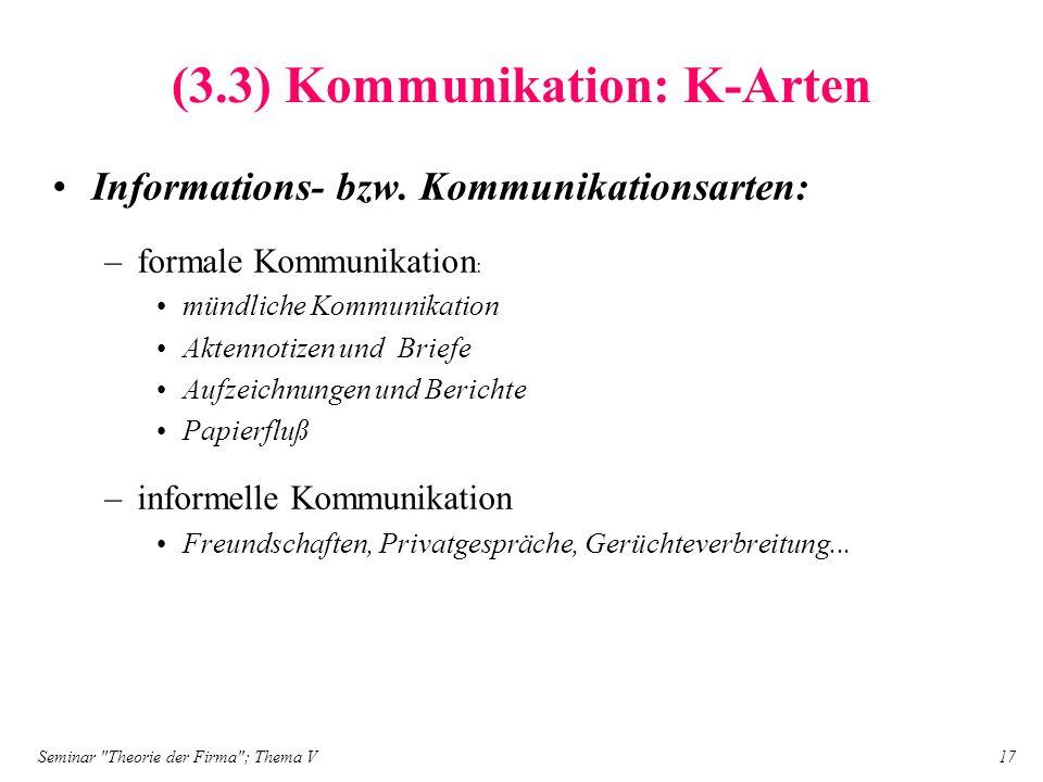 (3.3) Kommunikation: K-Arten