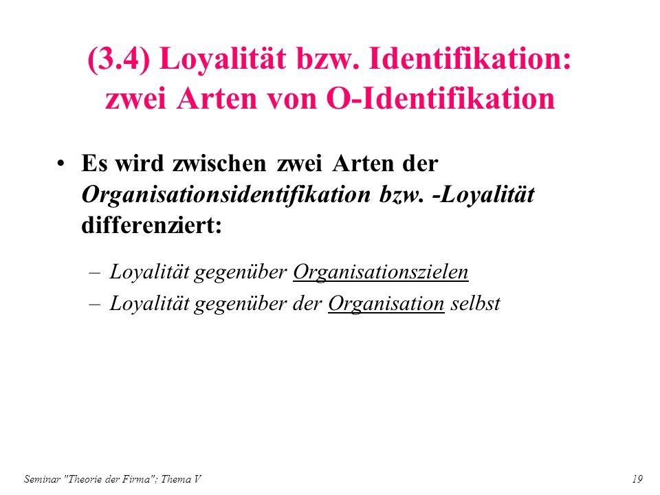 (3.4) Loyalität bzw. Identifikation: zwei Arten von O-Identifikation
