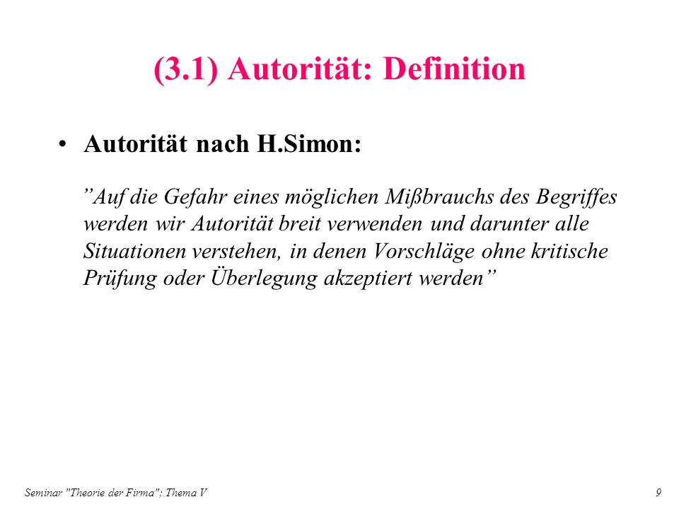 (3.1) Autorität: Definition
