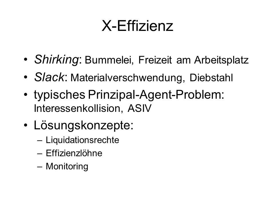 X-Effizienz Shirking: Bummelei, Freizeit am Arbeitsplatz