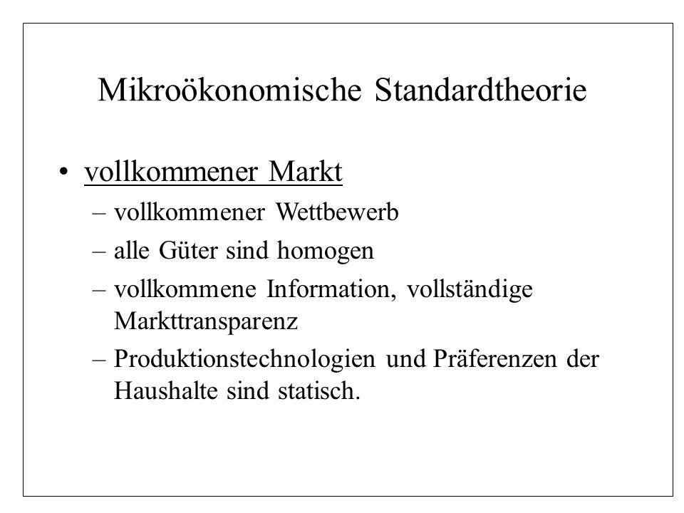 Mikroökonomische Standardtheorie