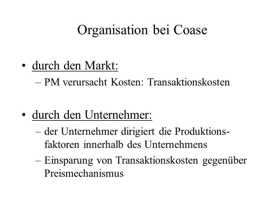 Organisation bei Coase