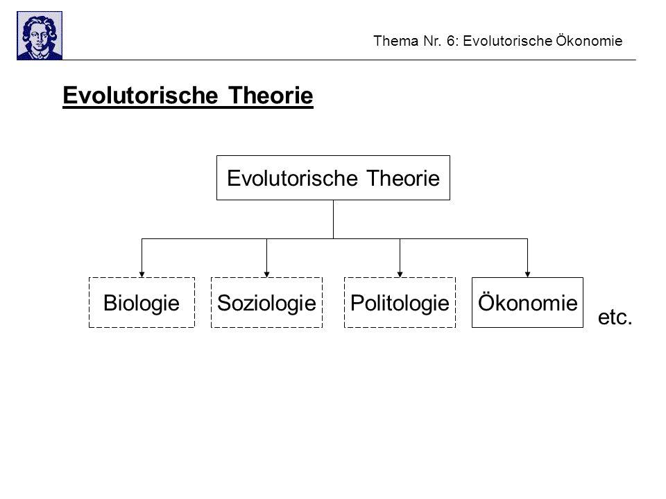 Evolutorische Theorie