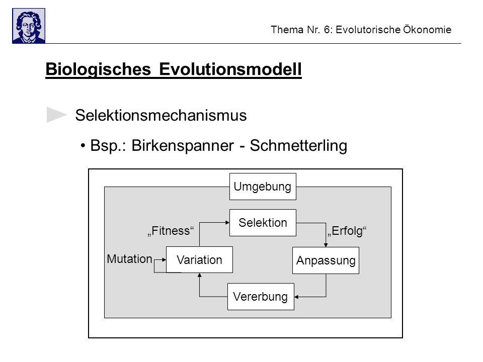 Biologisches Evolutionsmodell