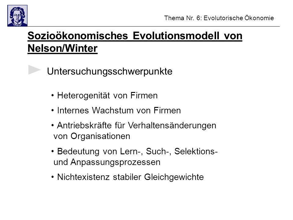 Sozioökonomisches Evolutionsmodell von Nelson/Winter