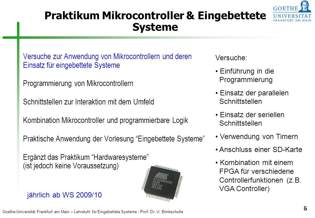 Praktikum Mikrocontroller & Eingebettete Systeme