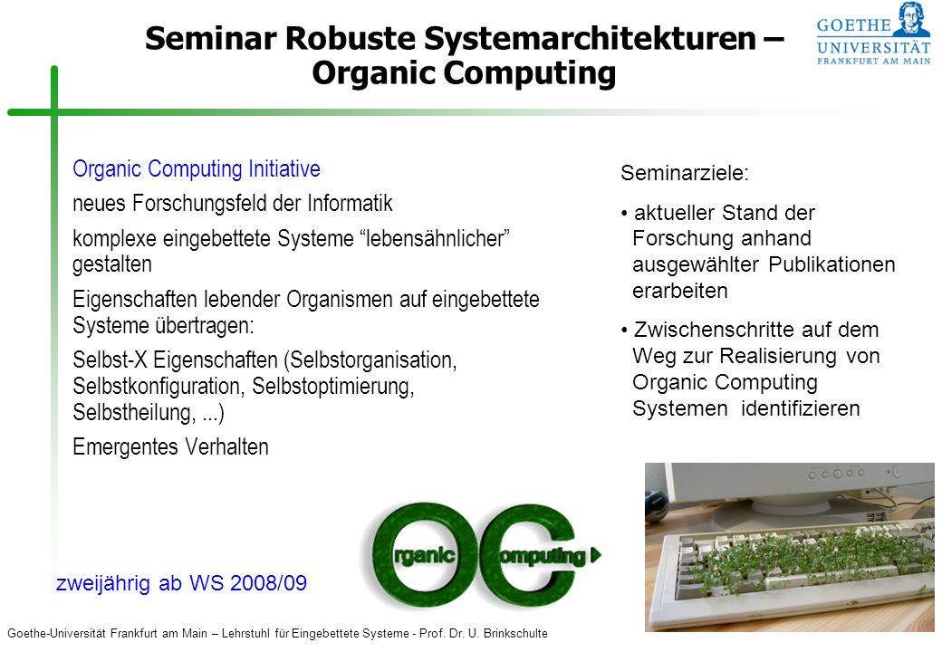 Seminar Robuste Systemarchitekturen – Organic Computing